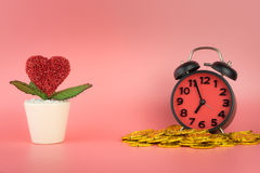 Growing Love takes money and time. Concept picture Royalty Free Stock Photo