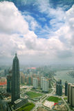 Growing metropolis. View from Oriental Pearl Tower on new buildings in Pudong area, Shanghai, China Stock Photos