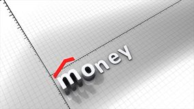 Growing money chart graphic animation. stock footage