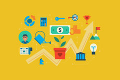 Growing Money Concept Royalty Free Stock Image