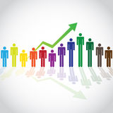 Growing people Royalty Free Stock Images