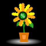 The growing percent Stock Images