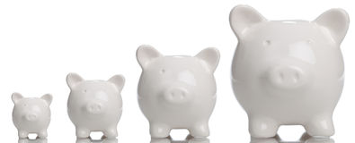 Growing Piggy Bank Stock Photo