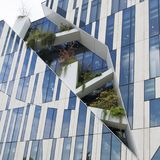 Growing plants on modern building, Dusseldorf Royalty Free Stock Image