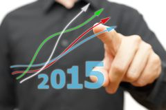 Growing and positive trend in year 2015 Royalty Free Stock Images