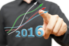 Growing and positive trend in year 2016 Royalty Free Stock Photography