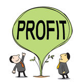 Growing profit Stock Images