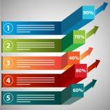 Growing Profits Chart Icon Royalty Free Stock Photos