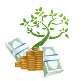 Growing profits concept illustration. Design over a white background Royalty Free Stock Photography