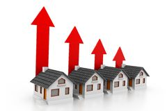 Growing real estate char Stock Images