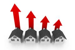 Growing real estate chart Royalty Free Stock Image