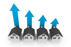 Growing real estate chart Royalty Free Stock Photos