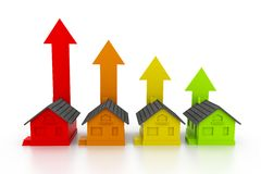 Growing real estate chart Stock Images