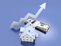 Growing Real Estate value Stock Images