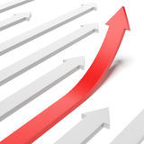 Growing red arrow Stock Image