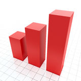 Growing red diagram Royalty Free Stock Photos