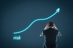 Growing risk stock image