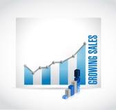 Growing sales business graph illustration design Stock Photos