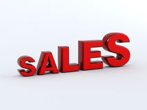 Growing Sales Concept. 3d text of representation of growing sales Stock Image