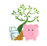 Growing savings concept Royalty Free Stock Images