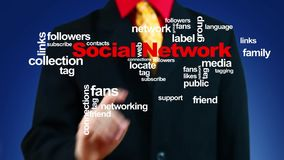 Growing social network stock footage