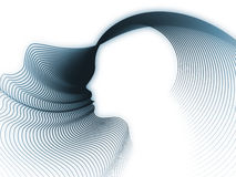 The Growing Soul Geometry. Geometry of Soul series. Background composition of  profile lines of human head to complement your layouts on the subject of education Royalty Free Stock Photography