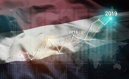 Growing Statistic Financial 2019 Against Netherlands Flag.  vector illustration