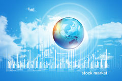 Growing Stock market chart Royalty Free Stock Images