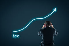 Growing tax burden Stock Photography