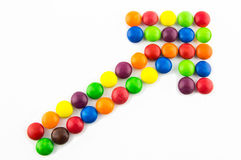 Growing trend concept. Made of multicolored candies Royalty Free Stock Images