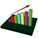 Growing Up Graph vector Stock Images