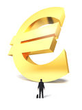 Growing up money euro sign Stock Images