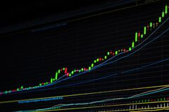 Free Growing Up Stock Market Graph. Bull Market. Royalty Free Stock Photo - 192559025