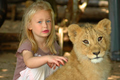 Growing up with wildlife Royalty Free Stock Image