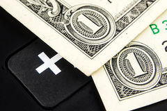 Growing value of american dollar Stock Image