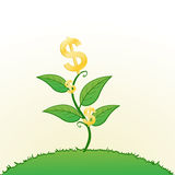 Growing wealth royalty free illustration