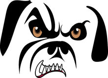 Growling Bulldog Royalty Free Stock Images