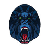 Growling gorilla tattoo Stock Photography