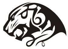Growling tiger head linear icon Royalty Free Stock Photo