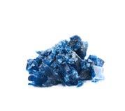 Grown crystal of salt isolated Stock Photos