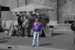 Grown man dressed in an unusual way in Rome, Italy Stock Photography