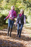 Grown up mother and daughter on walk Stock Photos