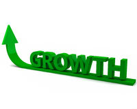 Growth. The word growth with an upward trending arrow Royalty Free Stock Photos