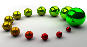Growth. From red to green colored circle to symbolize improvement Royalty Free Stock Image