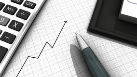 Growth. Background illustrating business growth with a diagram arrow Royalty Free Stock Photo