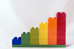 Growth. Metaphor or colorful graph - toy block stairs leading to nowhere Royalty Free Stock Images