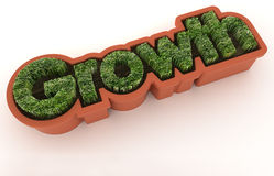 Growth. The word growth made of growing grass Royalty Free Stock Photography