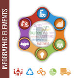 Growth abstract background with connected metaball and integrated icons. Business. Growth abstract background with connected metaball and integrated icons for vector illustration