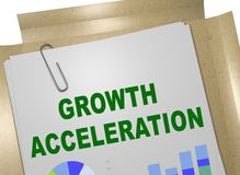 GROWTH ACCELERATION concept. 3D illustration of GROWTH ACCELERATION title on business document Stock Photography