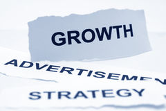 Growth advertisement strategy concept Royalty Free Stock Photo